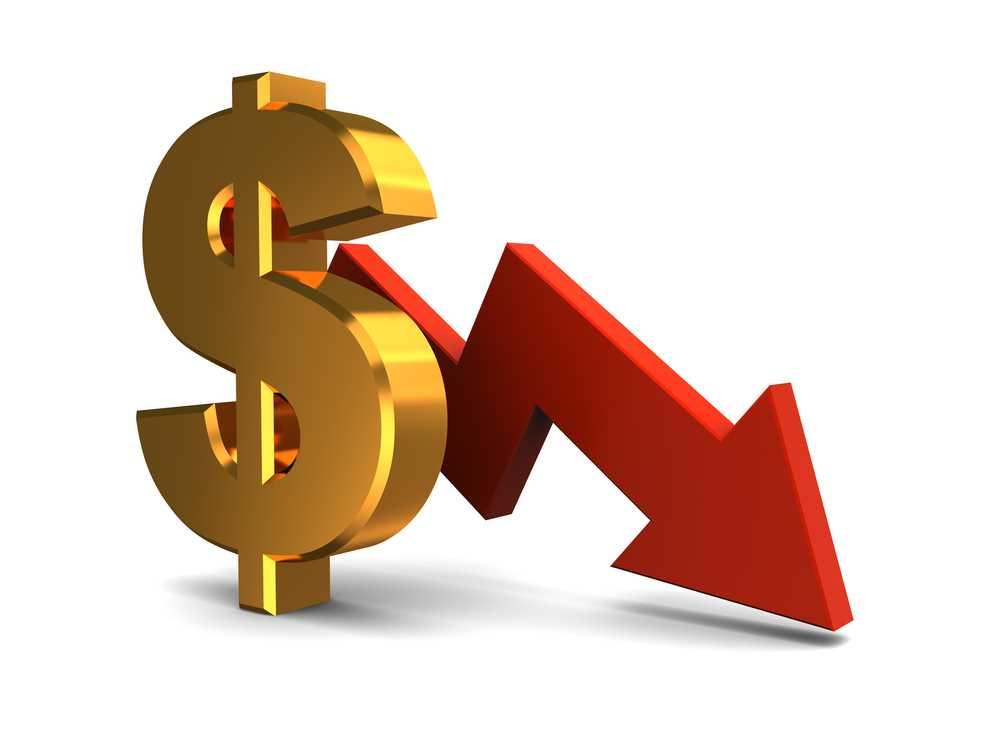 Падающий курс американской валюты